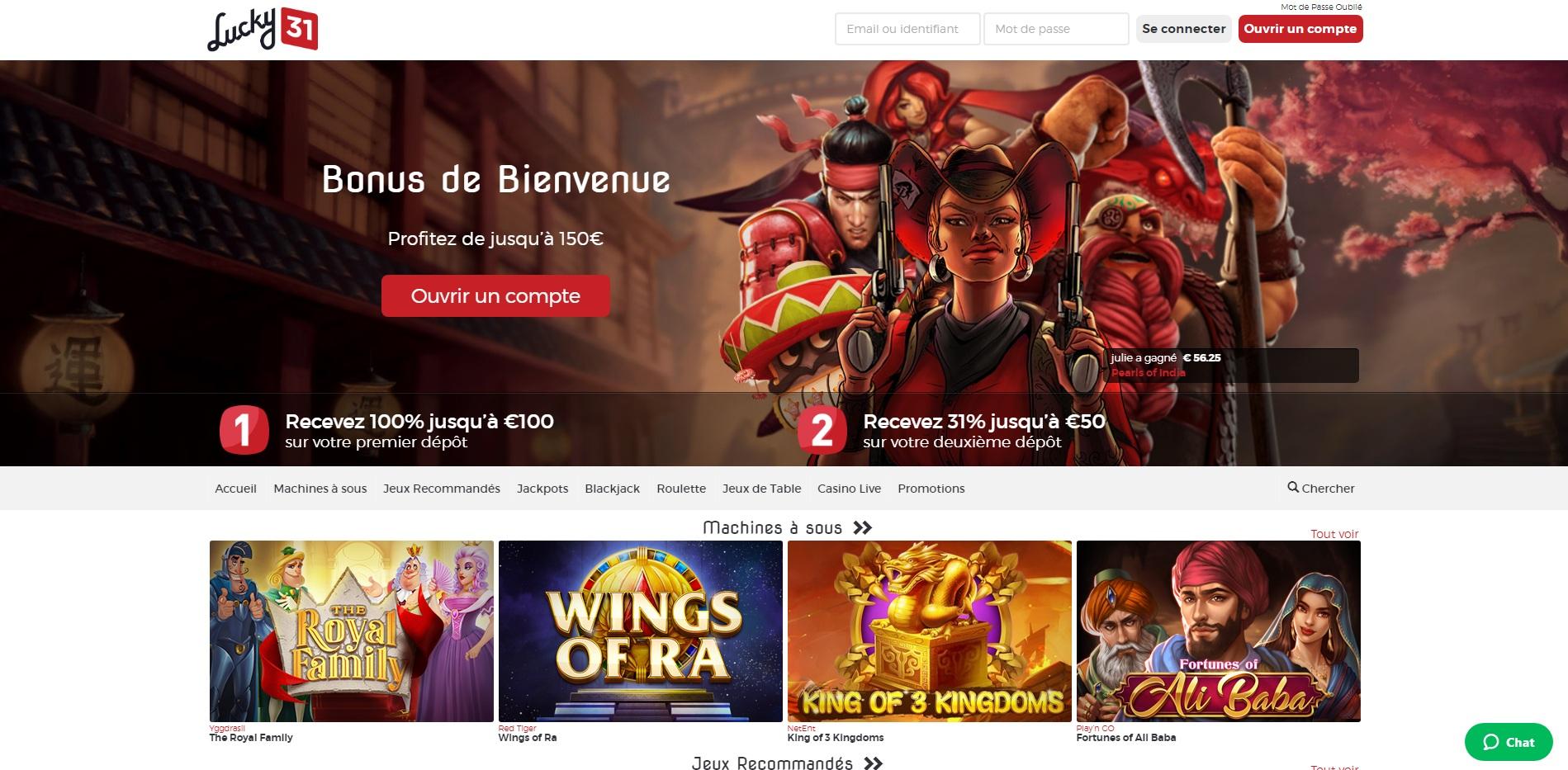 Lucky31 avis : est-ce un bon casino en ligne ?