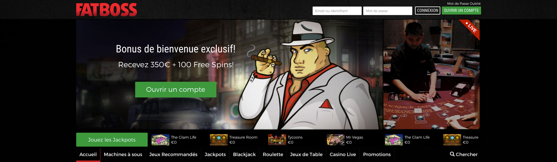 Bonus Fatboss Casino : tout sur les offres et promotions du casino !